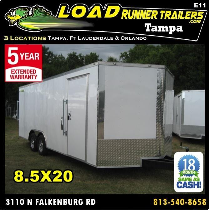 *E11* 8.5x20 Enclosed Car Hauler Cargo Trailer Trailers 8.5 x 20 | EV8.5-20T3-R in Ashburn, VA