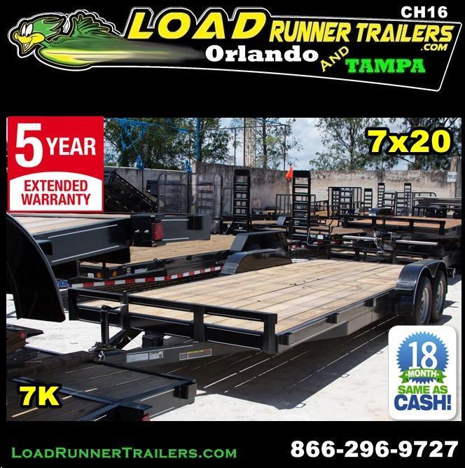 *CH16* 7x20 Car Haulers & Trailers LR Trailer & Hauler w/brakes 7 x 20 | CH82-20T3-1B