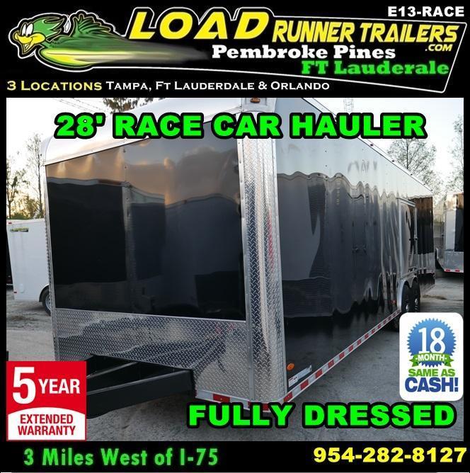*E13-Race* 8.5x24 RACE CAR ENCLOSED CARGO TRAILER |LR TRAILERS 8.5 x 24 | EV8.5-28T5-RACE