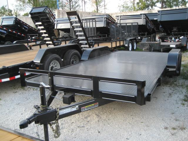 *H54* 7x18 Car Hauler Steel Deck Trailer Tandem 5200# Axles 7 x 18 | CH82-18T5-2B-SD in Ashburn, VA