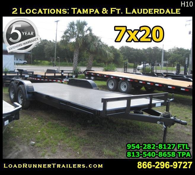 *H10* 7x20 CAR HAULER Trailer 5 TON Steel Deck Trailers 7 x 20 | CH82-20T5-2B-SD in Ashburn, VA