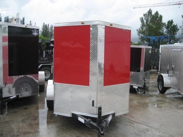 *E1B* 5x8 Enclosed  Trailer L R Cargo Box Trailers 5 x 8 | EV5-8S3-DD