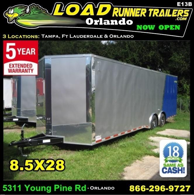 *E13B* 8.5x28 Enclosed Cargo Trailer Car Trailers Hauler 8.5 x 28 | EV8.5-28T7-R in Ashburn, VA