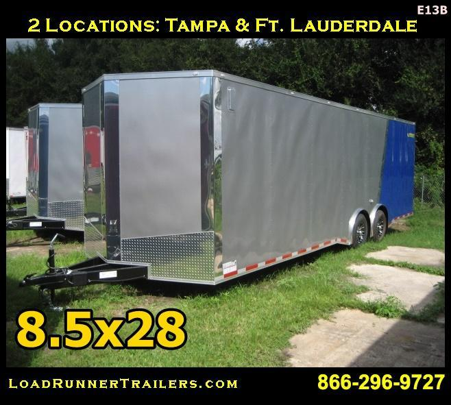 *E13B* 8.5x24 Enclosed Cargo Trailer Car Hauler Box Trailers 8.5 x 24 | EV8.5-28T3-R