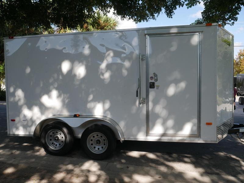 *E8F* 7x14 Enclosed Trailer Cargo Tandem Axle Trailers |105814| 7 x 14 | EV7-14T3-R