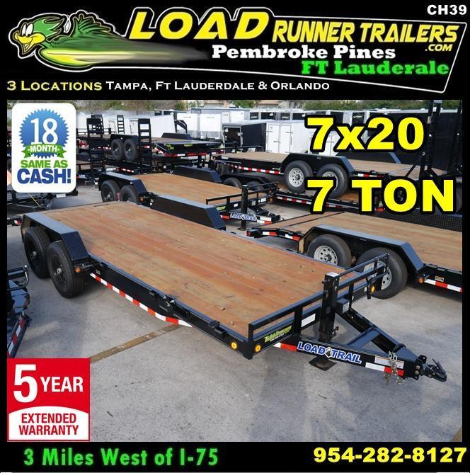 *CH39* 7x20 7 Ton Car Hauler Trailer  LR Haulers & Trailers 7 x 24 | CH83-20T7