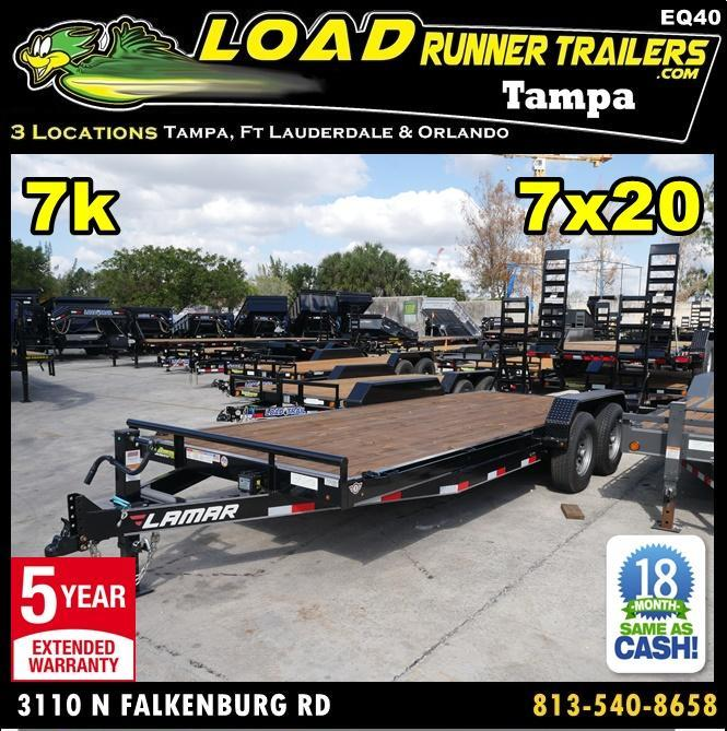 *EQ40* 7x20 7 TON Equipment & Car Hauler Trailer |LR Trailers 7 x 20 | EQ83-20T7-KR