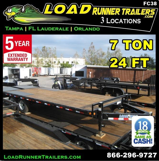 *FC38* 8.5x24 7 TON Flatbed Deck Over Trailer with Multipurpose Dove 8.5 x 24 | FC102-24T7-FF
