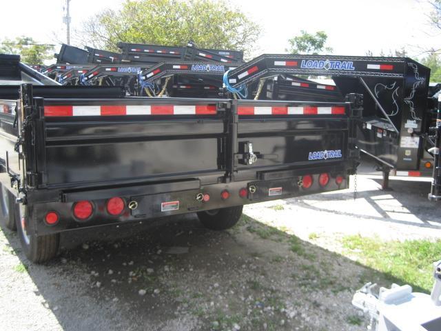 DB33* 8x16 7 Ton Dump Trailer LR Trailers w/Fold Down Sides