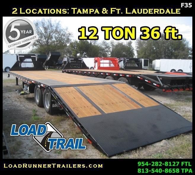 *F35* 8.5x36 Flatbed Gooseneck Trailer 12TON Low Profile 8.5 x 36 | FG102-36T12-LP/HYD