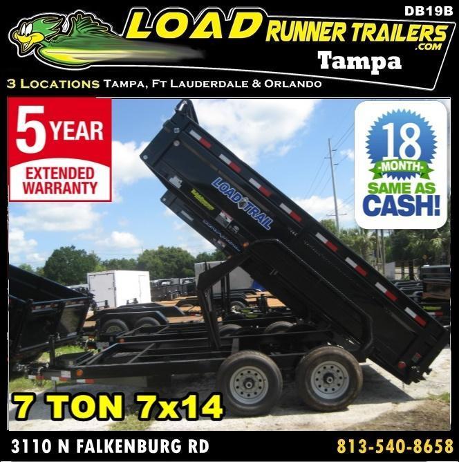 *DB19B* 7x14 14K Tandem Dump Trailer Load Trail Trailers 7 x 14 | D83-14T7-24S