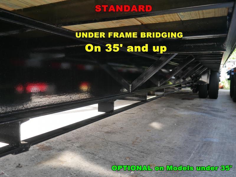 *FG13* 8.5X32 10 TON FLATBED GOOSENECK TRAILER |DECK OVER TRAILERS 8.5 x 32 | FG102-32T10-FF