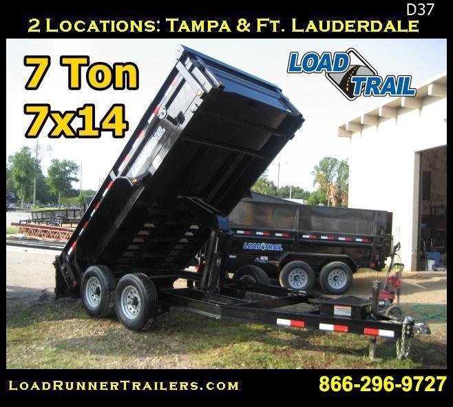 *D37* 7x14 Dump Trailer | Trailers 7 TON LOW PROfile 7 x 14 | D83-14T7-LP/24S