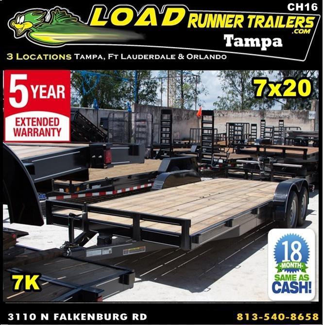 *CH17* 7x20 Car Haulers Trailer Steel Haulers & Trailers w/brake 7 x 20 | CH82-20T3-1B-SD