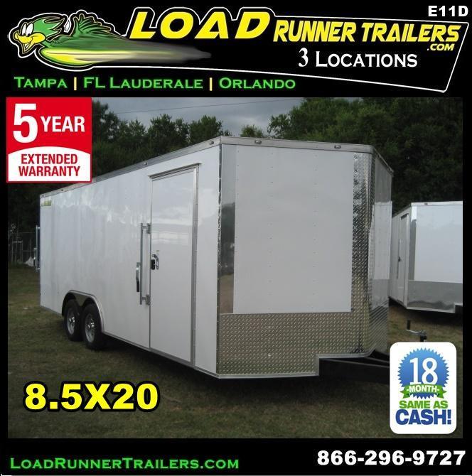 *E11D* 8.5x20 Enclosed Cargo Trailer Car Hauler 8.5 x 20 | EV8.5-20T3-R