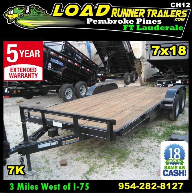 *CH12* 7x18 Car Hauler Trailer 7K w/Electric Brakes 7 x 18 | CH82-18T3-1B
