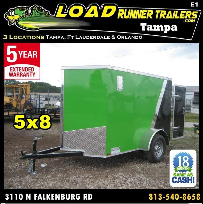 *E1* 5x8 Enclosed Trailer  LR Trailers Cargo 5 x 8 | EV5-8S3-R in Ashburn, VA