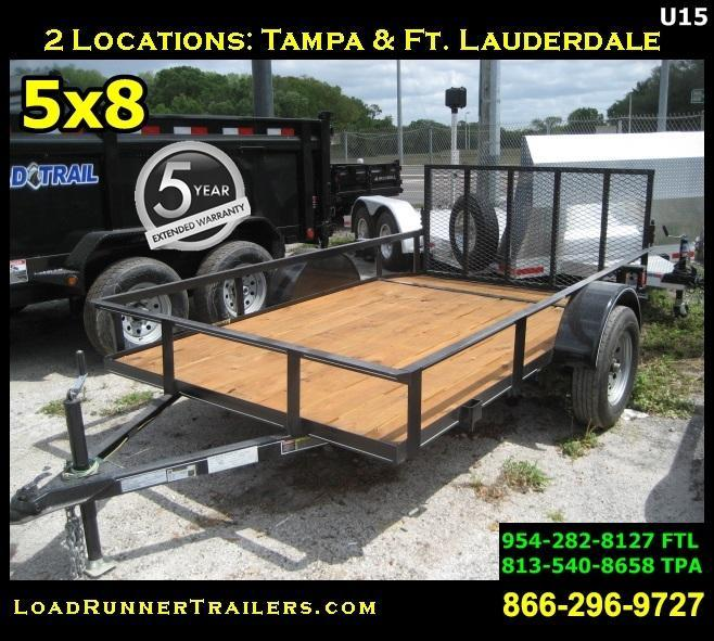 *U15* 5x8 Utility Lawn ATV Trailer W/ 3500 lb Axle 5 x 8 | U72-10S3-AR