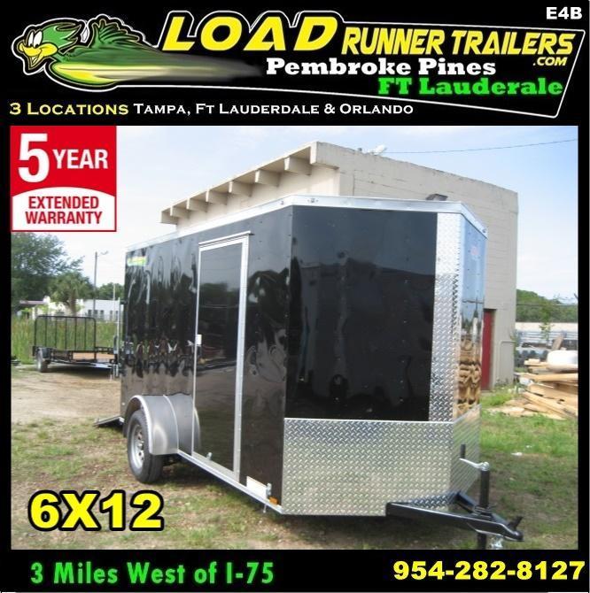 *E4B* 6x12 Cargo Enclosed Trailer Single Axle Trailers 6 x 12 | EV6-12S3-DD