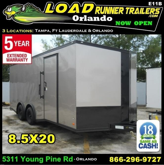 *E11B* 8.5x20 Hauler Enclosed Trailer TRAILERS Cargo 8.5 x 20 | EV8.5-20T3-R