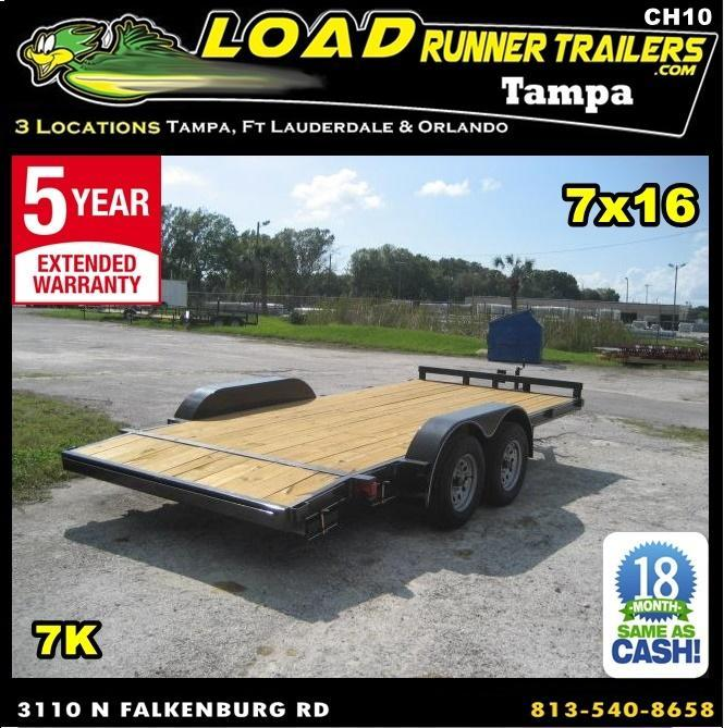 *CH10* 7x16 Car Hauler Trailer W/Brakes LR Trailers & Haulers 7 x 16 | CH82-16T3-1B in Ashburn, VA