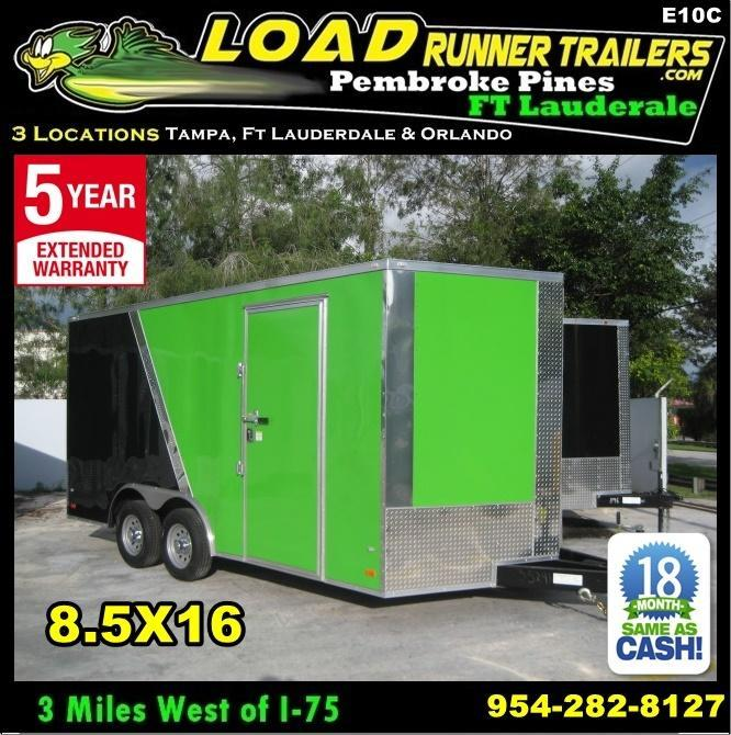 *E10C* 8.5x16 Enclosed*Trailer*Cargo Car Hauler 8.5 x 16 | EV8.5-16T3-R in Ashburn, VA