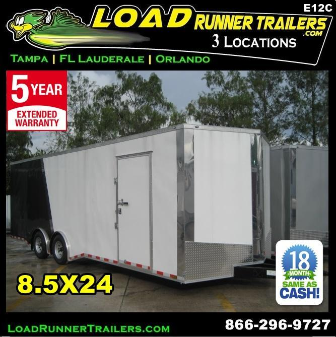 *E12C* 8.5x24 Enclosed Car Hauler Cargo Trailer HAULERS 8.5 x 24 | EV8.5-24T7-R in Ashburn, VA