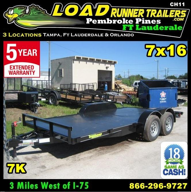 *CH11* 7x16 Car hauler Trailer w/Brakes LR Trailers & Haulers 7 x 16 | CH82-16T3-1B-SD in Ashburn, VA