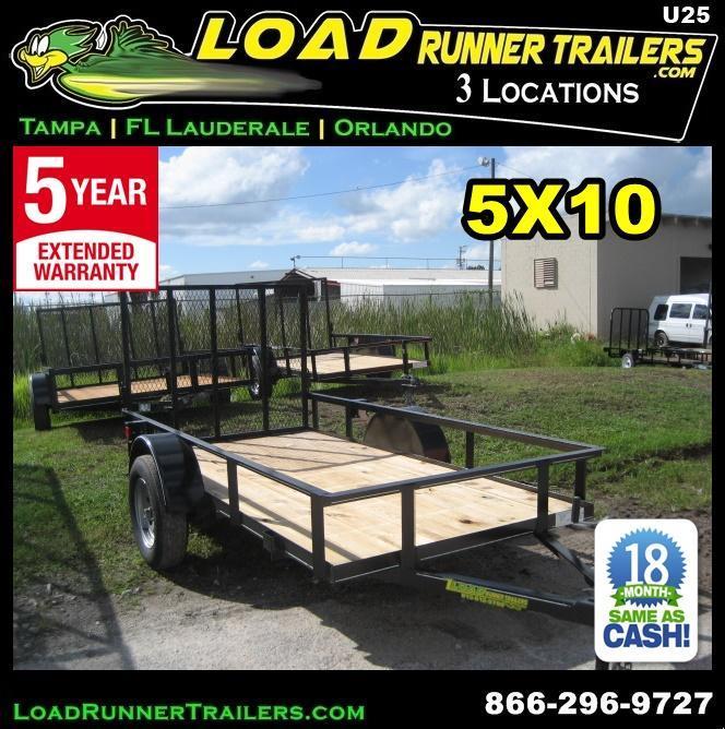 *U25* 5x10 Utility Lawn Trailer LR Trailers 5 x 10 | U60-10S3-AR