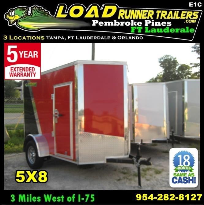 *E1C* 5x8 Enclosed  Trailer Cargo Trailers 5 x 8 | EV5-8S3-R in Ashburn, VA