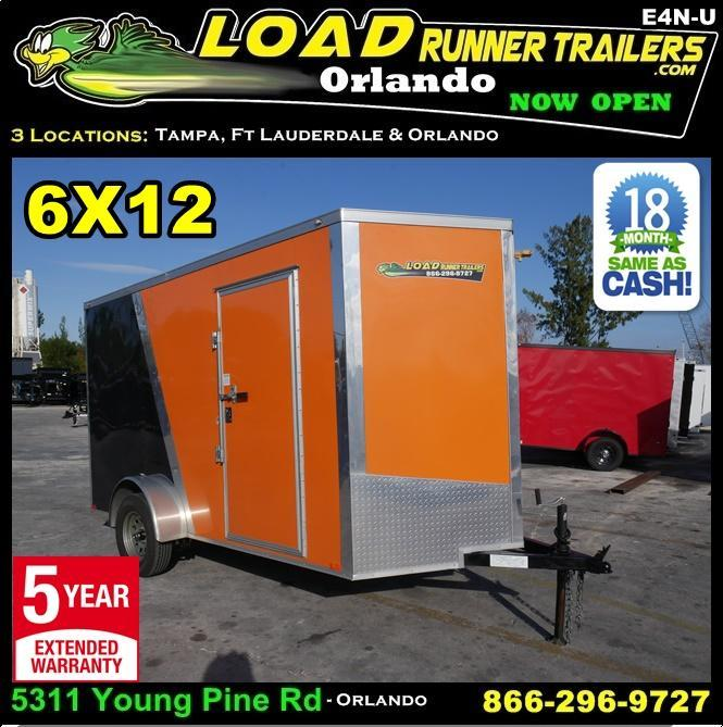 *E4N-U* 6X12  Used Enclosed Cargo Trailer |105988|V-Nose Trailers 6 x 12 | EV6-12S3-R
