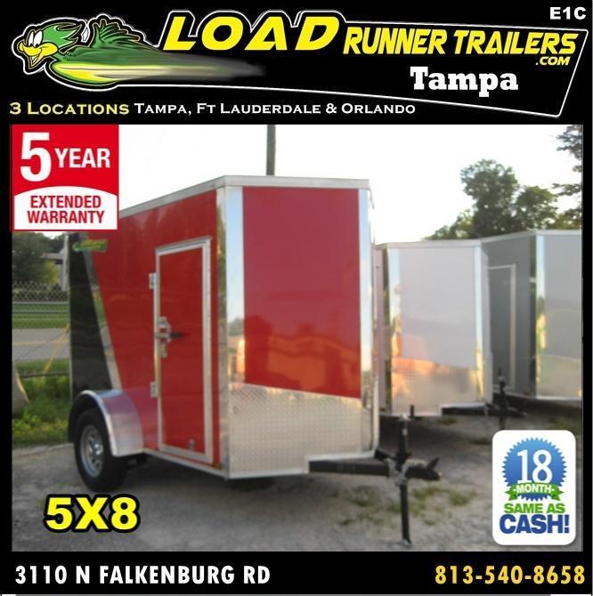 *E1C* 5x8 Enclosed  Trailer Cargo Trailers 5 x 8 | EV5-8S3-R