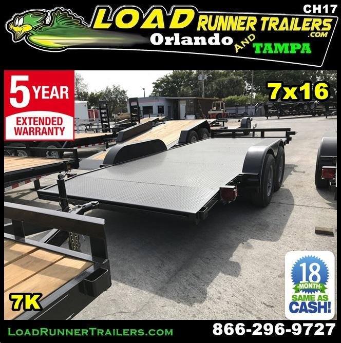 *CH17* 7x20 Car Haulers Trailer Steel Haulers & Trailers w/brake 7 x 20 | CH82-20T3-1B-SD