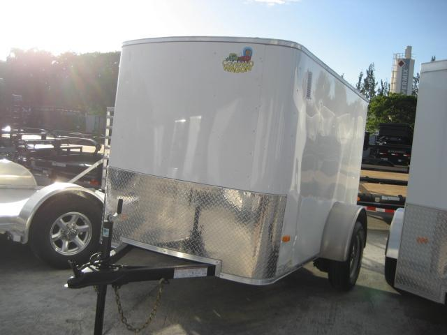 *E1D* 5x8 Enclosed Cargo Trailer Rear Door | Rounded Front 5 x 8 | EV5-8S3-R