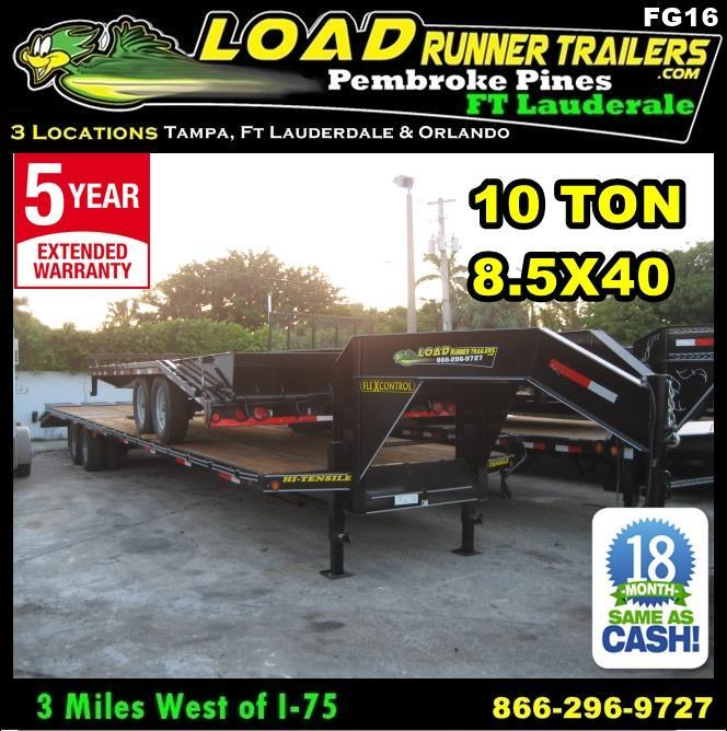 *FG16* 8.5x40 Flatbed Gooseneck Deck Over Trailer 10 TON|20K Trailers 8.5 x 40 | FG102-40T10-FF in Ashburn, VA
