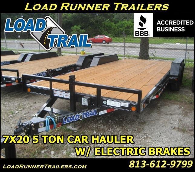 *H67* 7x20 Car Trailer 5 TON Hauler Haulers & Trailers 7 x 20 | CH83-20T5-2B