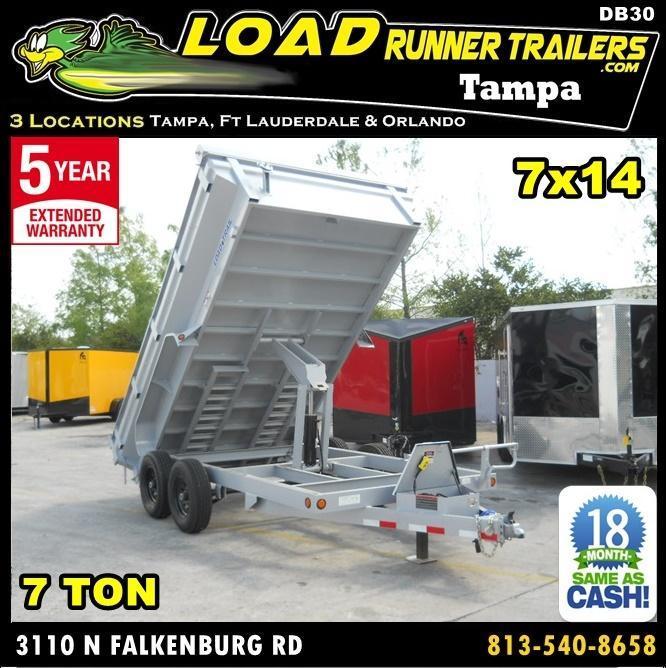*DB30* 7x14 7K Dump Trailer Load Trail KING Sides Trailers 7 x 14   DK83-14T7-24S