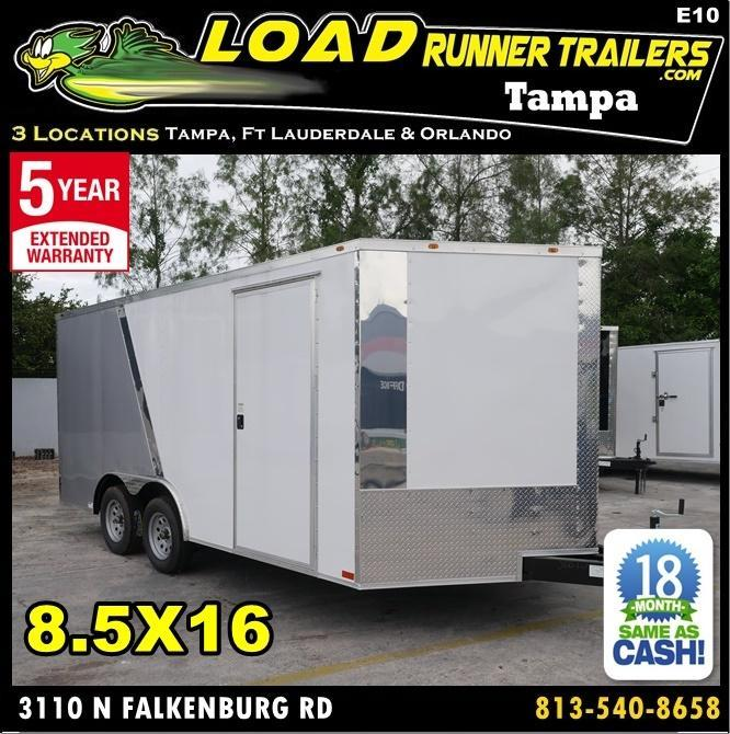 *E10* 8.5x16 Enclosed Cargo Trailer Car Hauler 8.5 x 16 | EV8.5-16T3-R