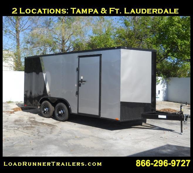 *E10D* 8.5x16 Enclosed Cargo Trailer Box Hauler 8.5 x 16 | EV8.5-16T3-R