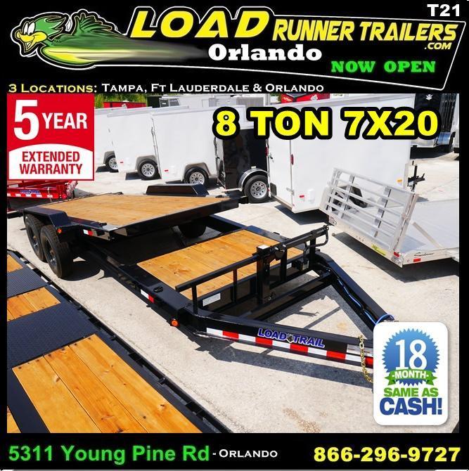 *T21* 7x20 8 TON Tilt Equipment Hauler Trailer 7 x 20 | T83-16+4T8T-GT