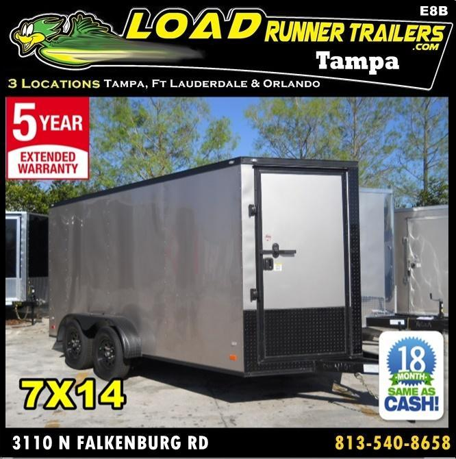 *E8B* 7x14 Enclosed Cargo Trailer Cargo Trailers Haulers 7 x 14 | EV7-14T3-DD in Ashburn, VA