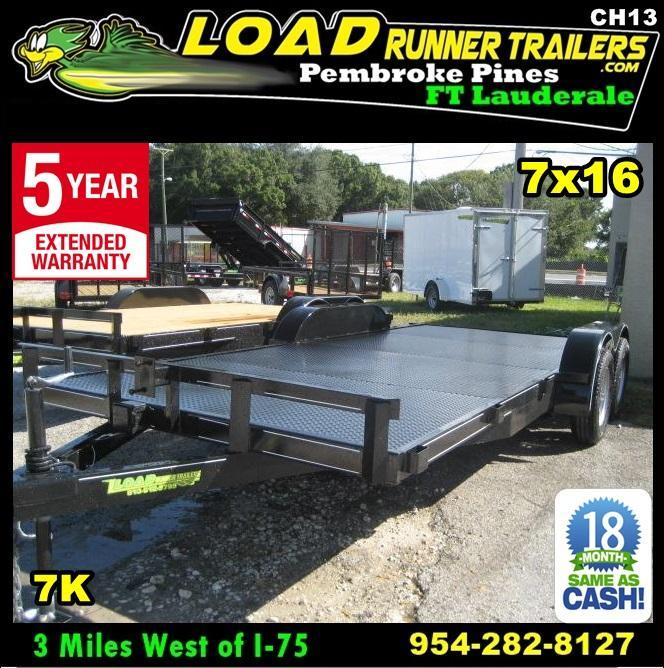 *CH13* 7x18 7K Steel Deck Car Hauler Trailer |LR Trailers & Haulers 7 x 18 | CH82-18T3-1B-SD in Ashburn, VA