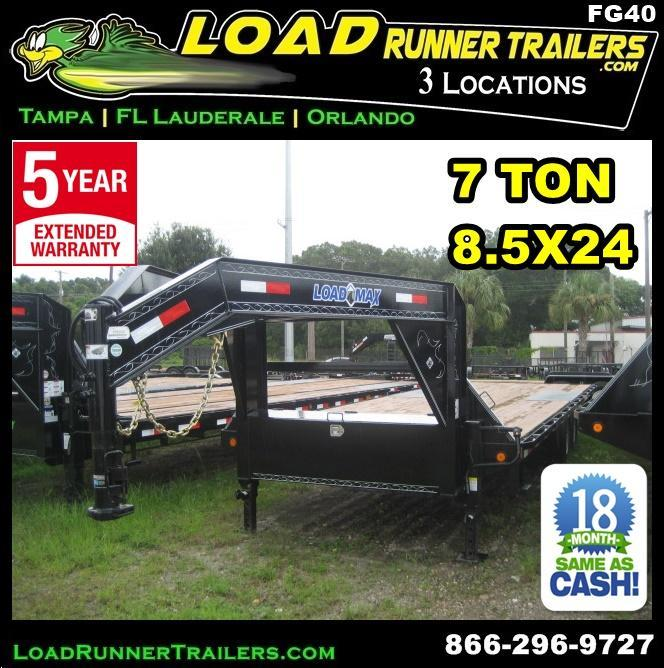 *FG40*  Flatbed Deck Over 7 TON Butt End  | FG102-24T7-BE