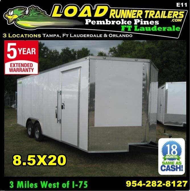 *E11* 8.5x20 Enclosed Car Hauler Cargo Trailer Trailers 8.5 x 20 | EV8.5-20T3-R