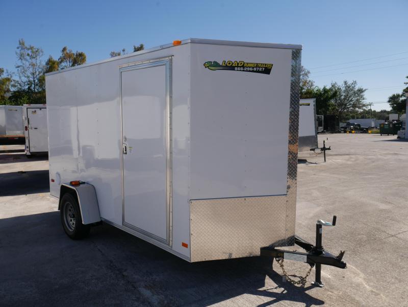*E4M* 6X12  Enclosed Cargo Trailer |105551|V-Nose Trailers 6 x 12 | EV6-12S3-R