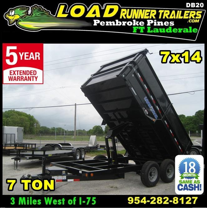 *DB20* 7x14x48 7k Dump Trailer W/4Ft Sides Load Trail Trailers 7 x 14 | D83-14T7-24S+24 in Ashburn, VA