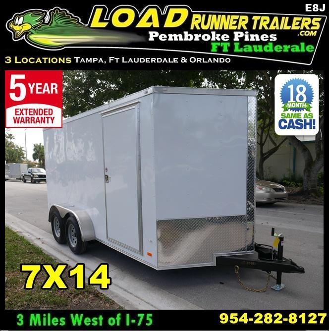 *E9J* 7x16 Enclosed Cargo Trailer Tandem Axle Hauler|RAMP 7 x 16 | EF7-16T3-R