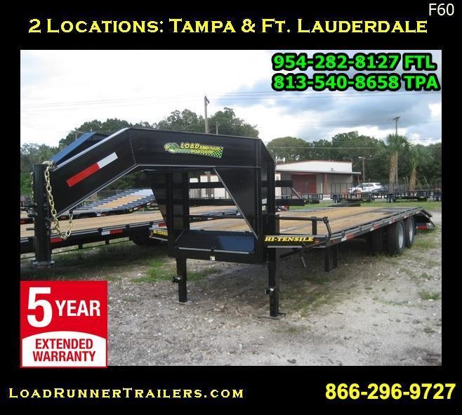 *F60* 8.5x25 Gooseneck 10-Ton Low-Profile W/ Dove Tail 8.5 x 25 | FG102-25T10-LP/FF