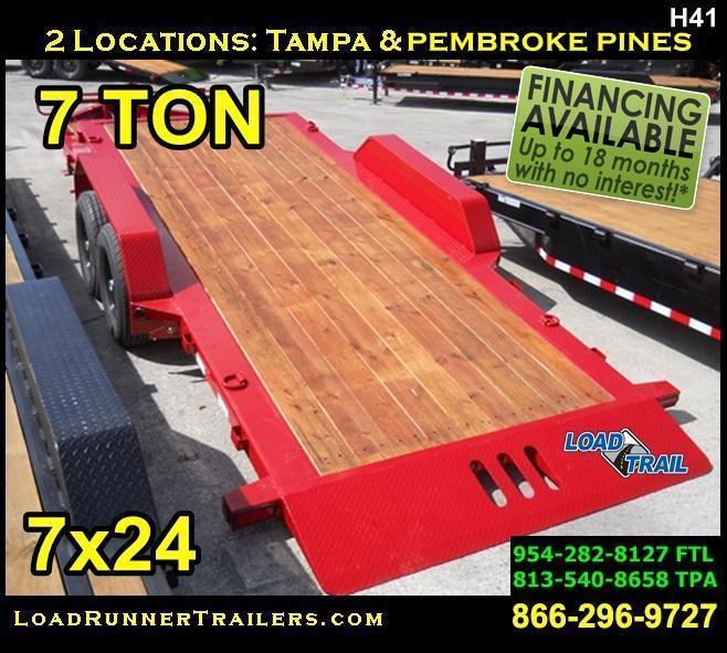 *H41* 7x24 TILT 7 TON LR Trailers Equipment Hauler Trailer 7 x 24 | T83-16+8T7-GT