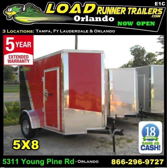 *E1C* 5x8 Enclosed  Moving Trailer Cargo Closed In Trailers 5 x 8 | EV5-8S3-R